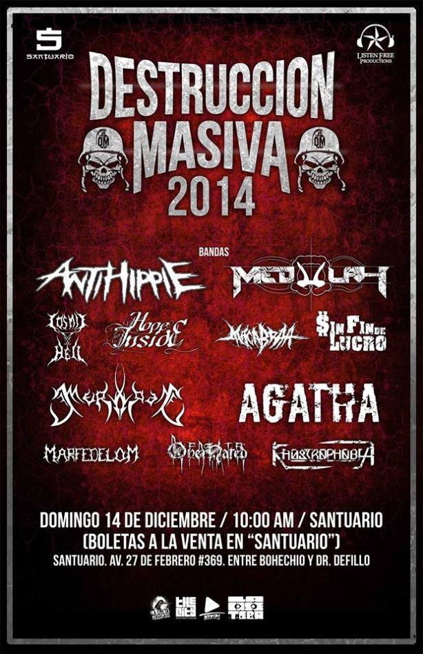 Destruccion Masiva 2014 - 14 de Diciembre - Santuario